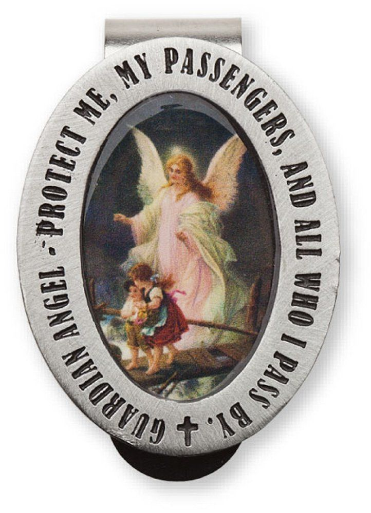 Guardian Angel Protect Me My Passengers and All Who Auto Visor Clip