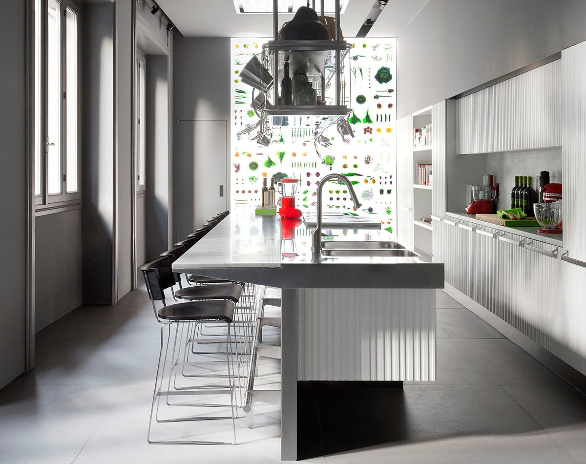 Arclinea Lignum Et Lapis Kleine Kuche Kuche Kuchen Design Ideen