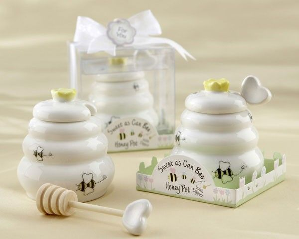 Sweet jar for honey with ladle