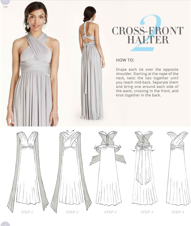 Versa Convertible Infinity Bridesmaid Dress In Lustrous Jersey ...