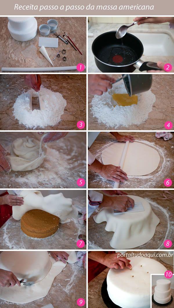 Extremamente Receita de bolo decorado com pasta americana: Passo a passo  HI87