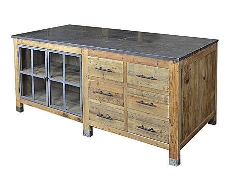 Tavolo pino ~ Industrial avenue: tavolo da lavoro in pino francine 180x85x80