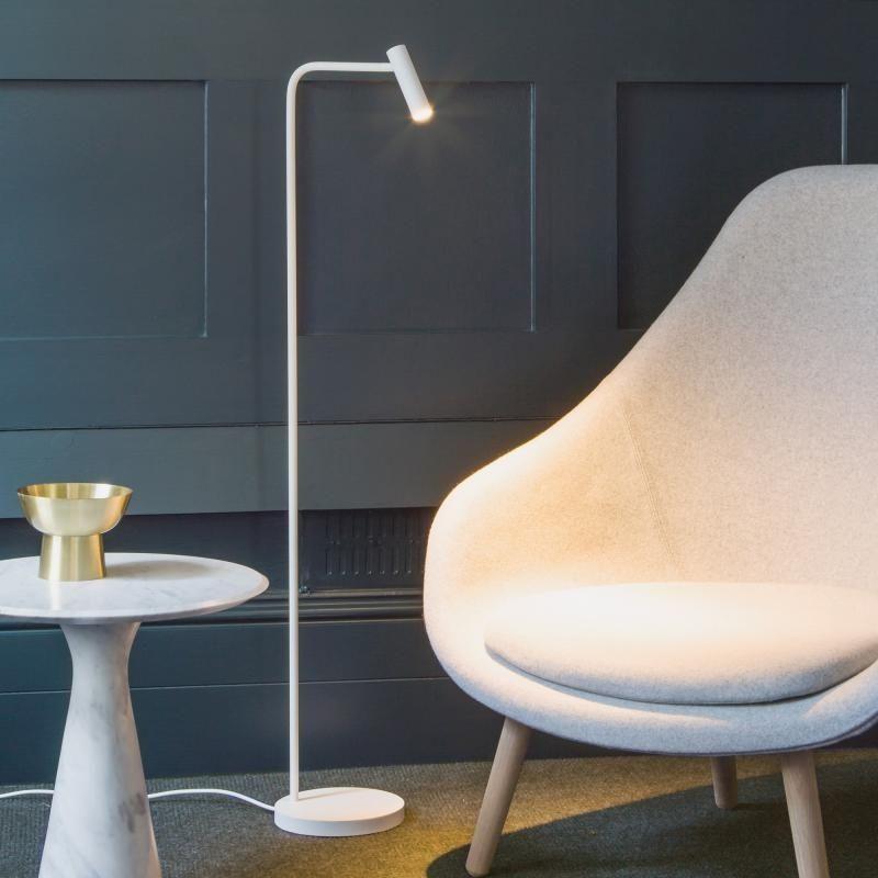 liseuse sur pied lampe enna h119 cm led blanc en 2019. Black Bedroom Furniture Sets. Home Design Ideas