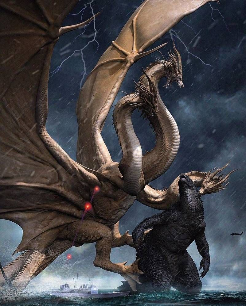 Godzilla vs King Ghidorah Concept art by MissSaber444 ...