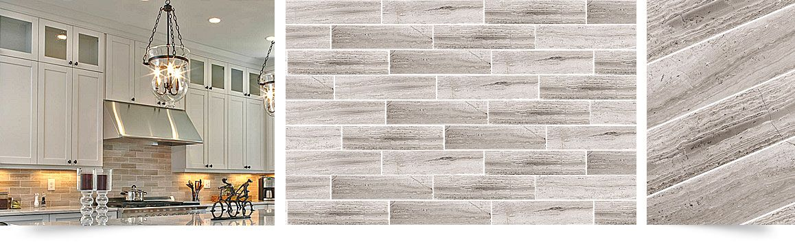 Subway Gray Marble Kitchen Backsplash Tile Backsplash Com