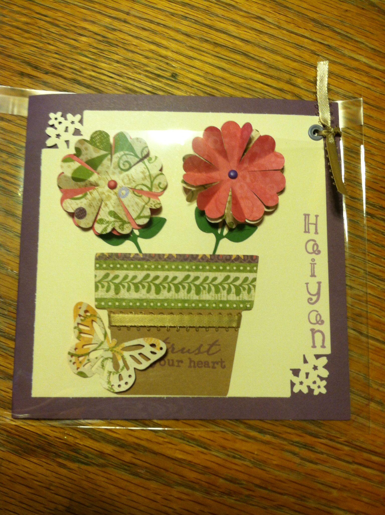 sweet goodbye card i made for a friend  card making
