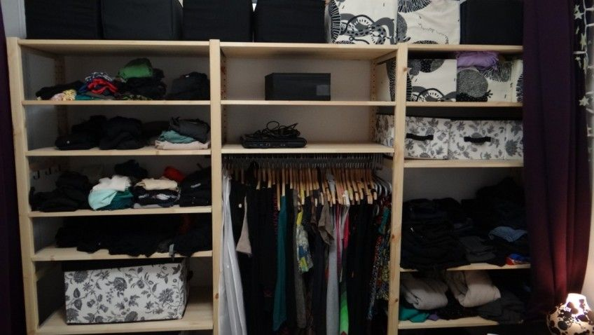 un dressing ikea pas cher avec ivar ideias de arruma o. Black Bedroom Furniture Sets. Home Design Ideas