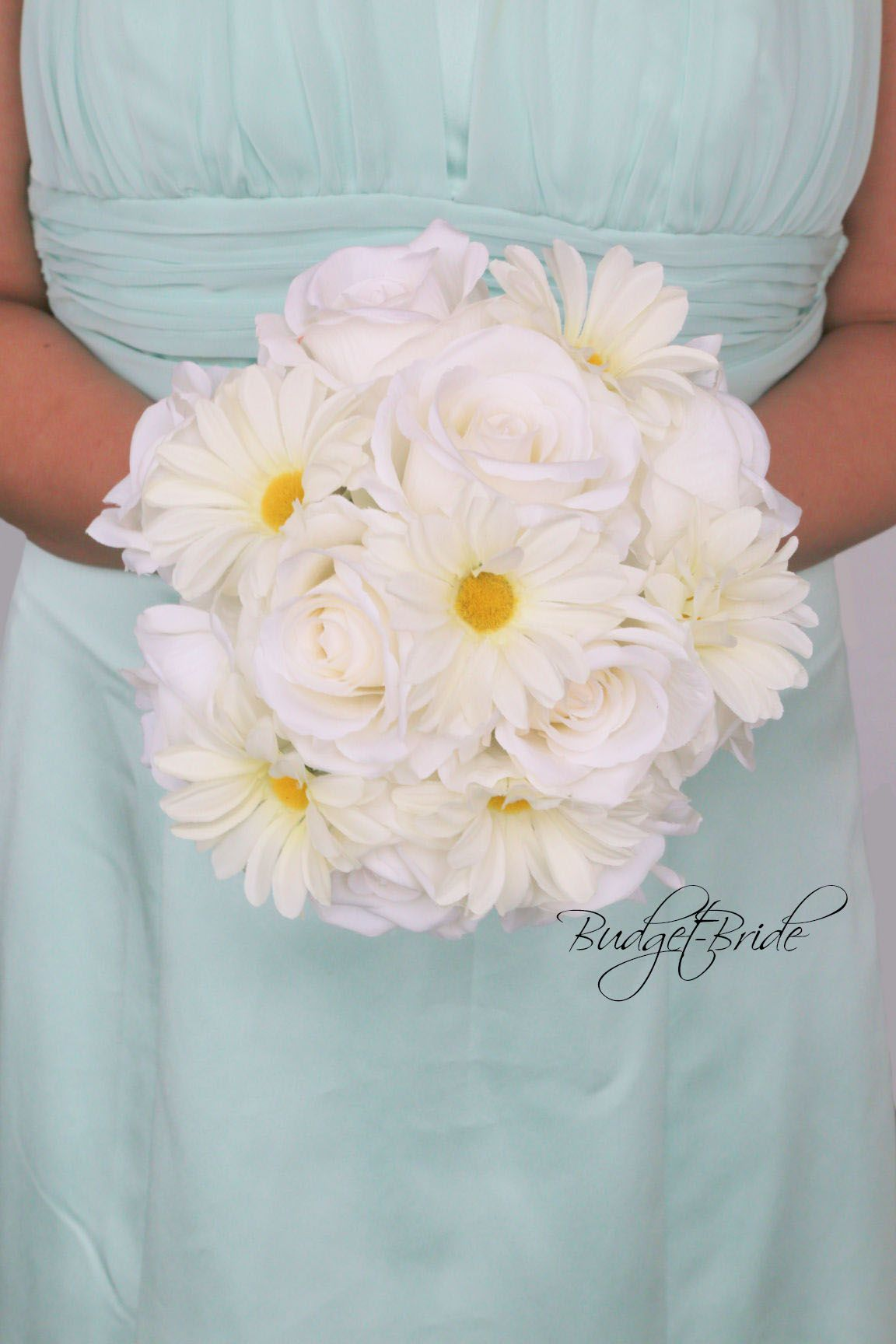 Mint Davids Bridal Wedding Flower Collection With Daisies On Mint
