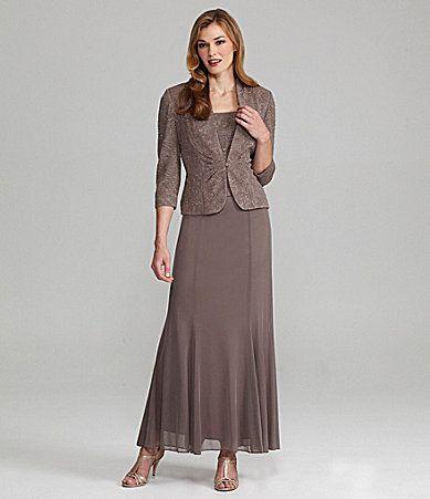 Alex Evenings Woman Jacket Dress #Dillards | Vestidos | Pinterest ...