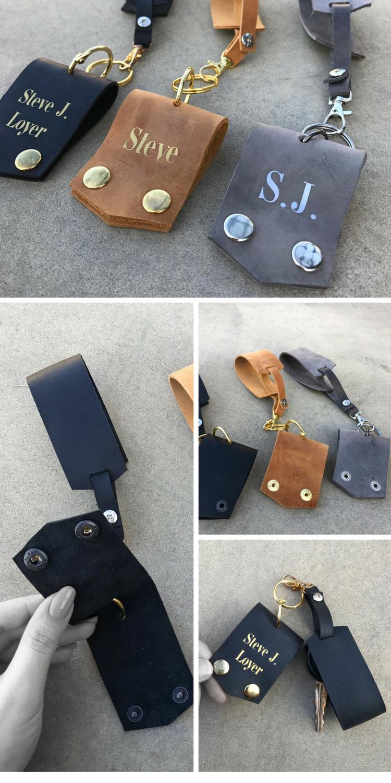 Leather Keychain Leather Key Holder Leather Key Fob Leather Key