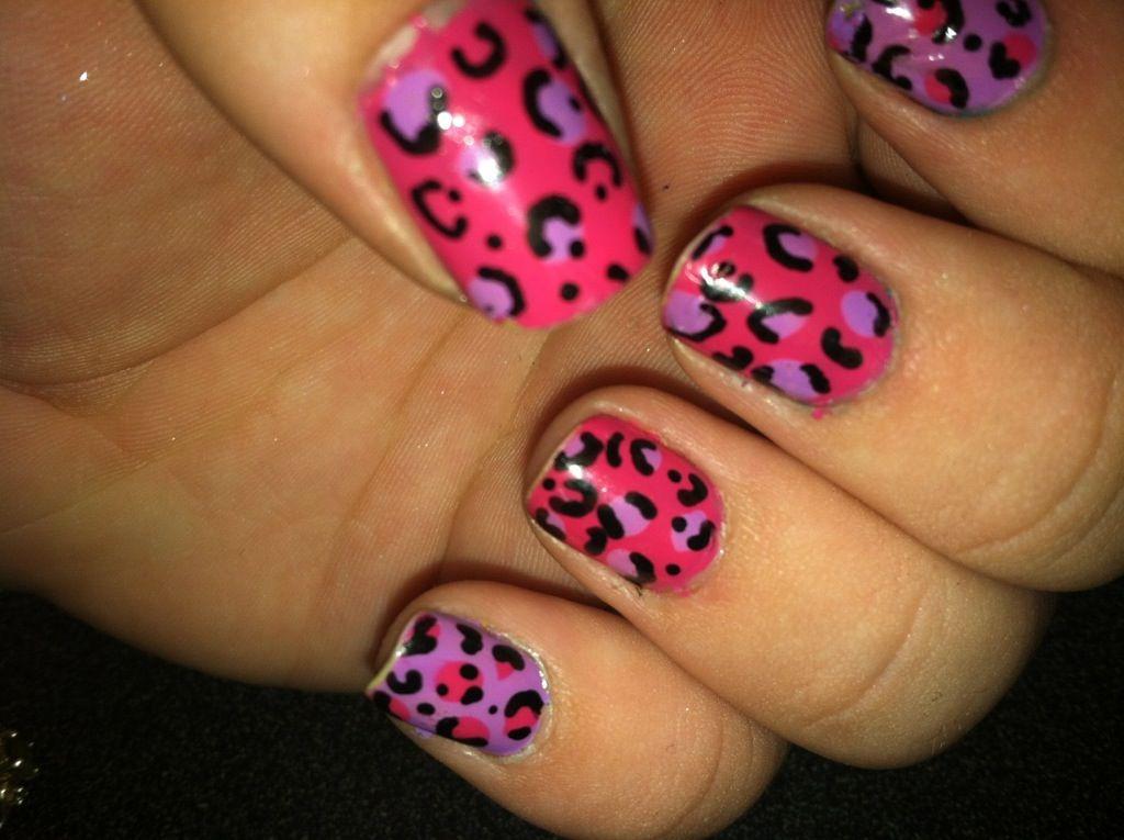 Cheetah Nail Designs Pink Cheetah Print Nail Design Idea Leopard