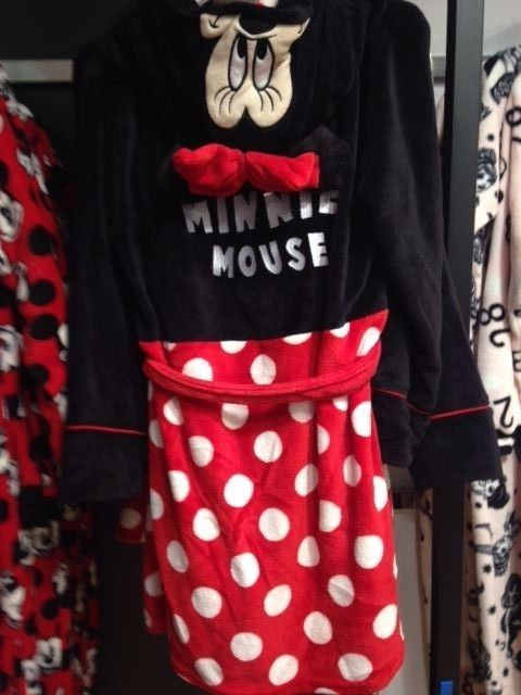 Primark Ladies DISNEY MINNIE MOUSE Dressing Gown Hooded Bathrobe ...
