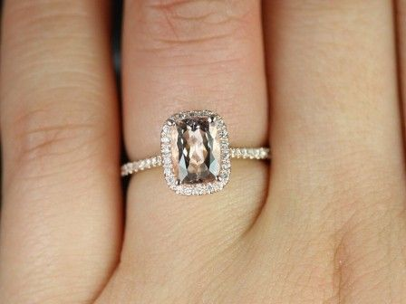 Rectangle Diamond Engagement Rings The