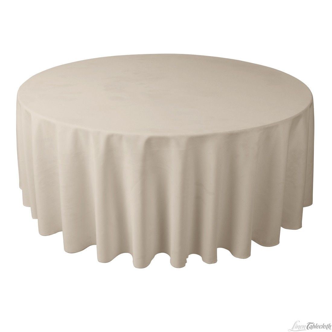 108 Inch Round Polyester Tablecloth Beige At Linentablecloth Table Cloth Cozy Home Decorating Round Tablecloth