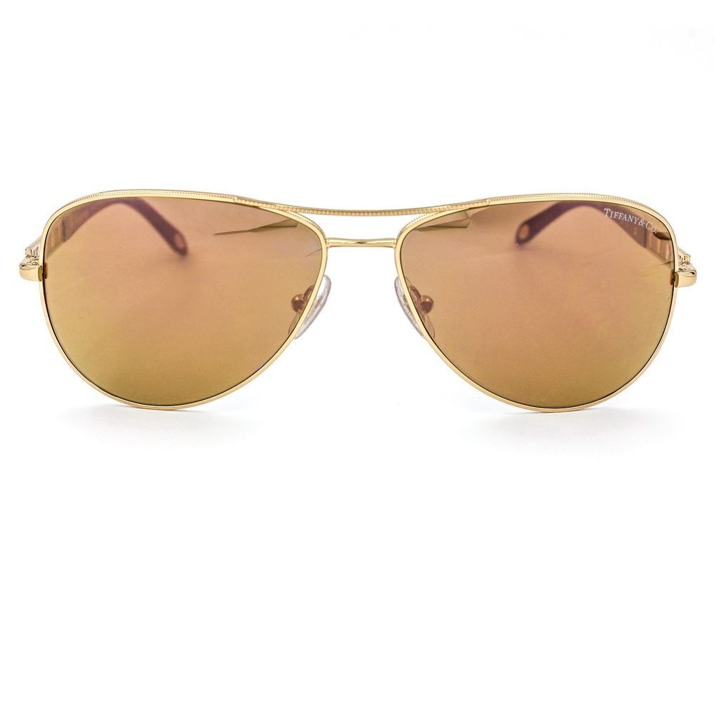 5d67a1073d8 Atlas Gold Plated Aviator Sunglasses with Mirrored Lenses TF3047-K   TiffanyCo  Designer