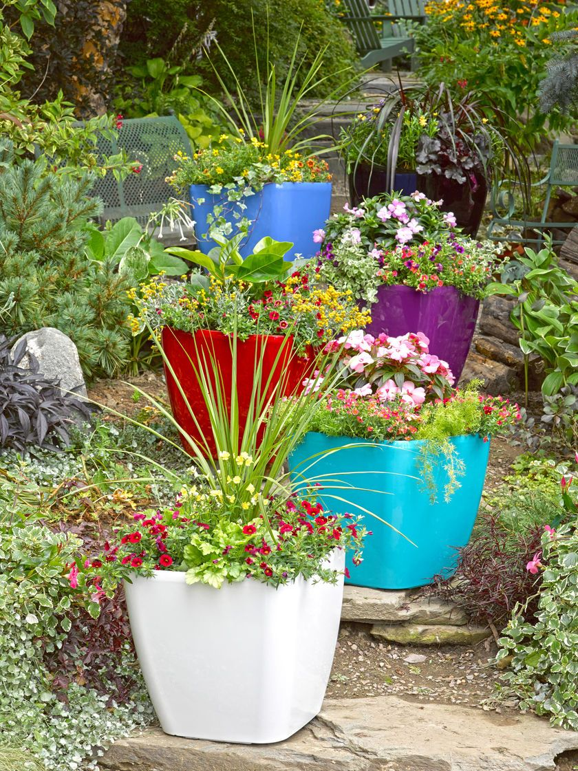 Large Square Planters Self Watering Rolling Planter 400 x 300