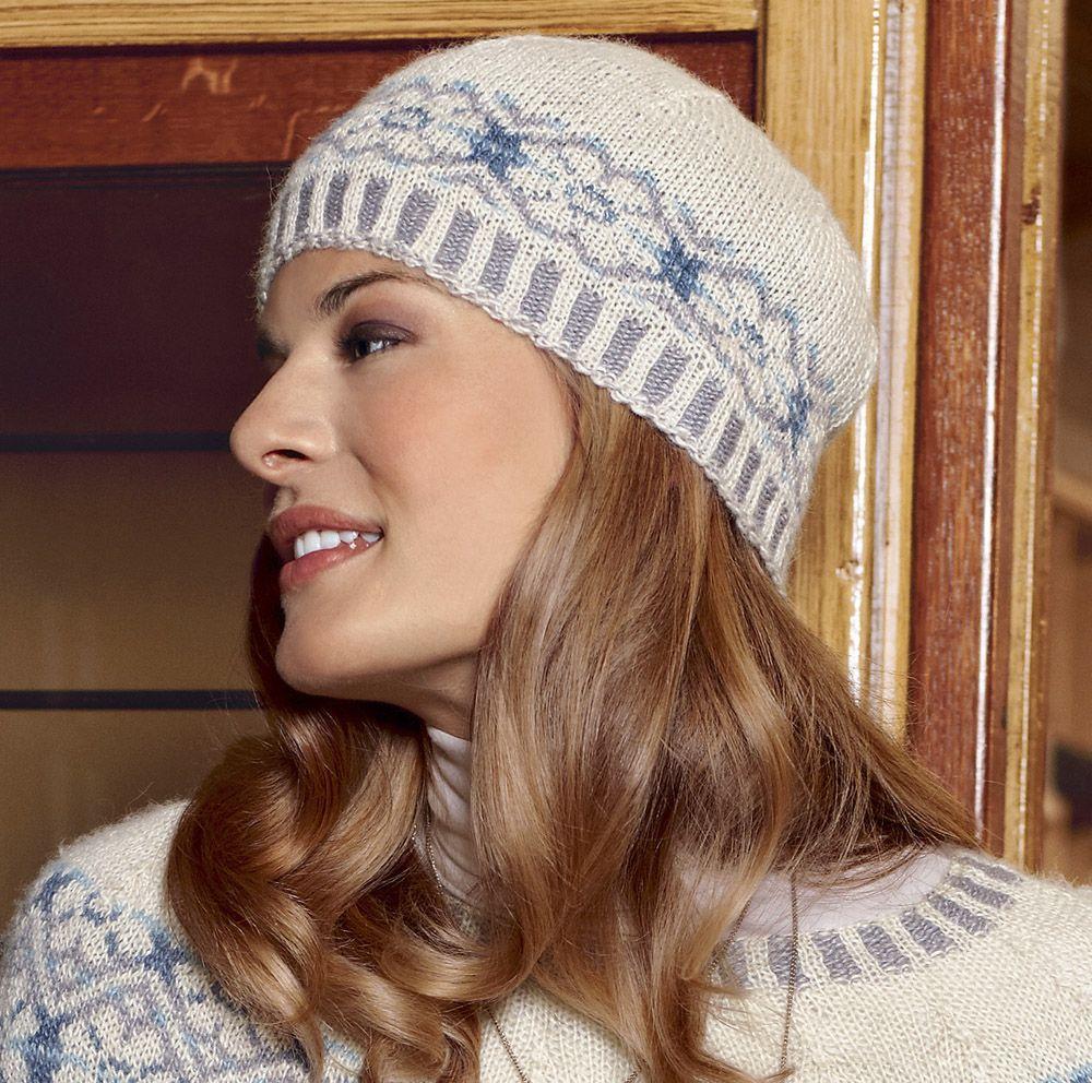snowflake hat схема вязания спицами