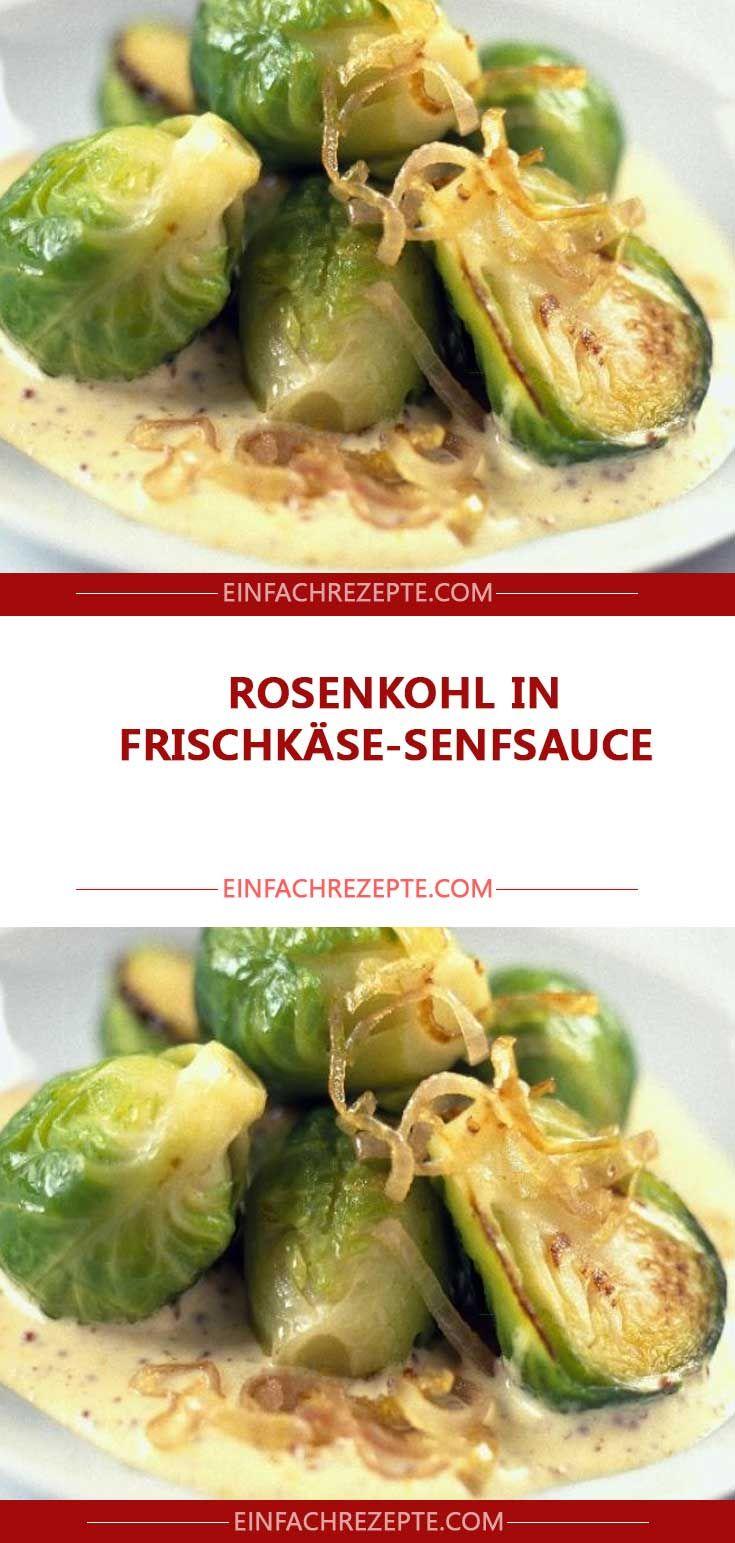 Rosenkohl In Frischkase Senfsauce In 2020 Rezepte Senfsauce