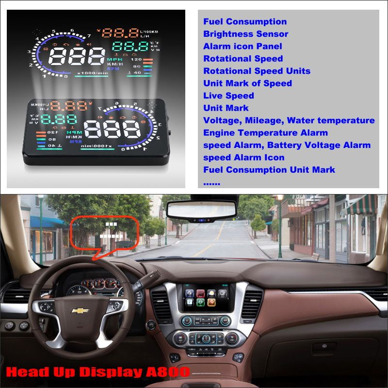 For Chevrolet Malibu / Silverado 2015 2016 HUD Car Head Up