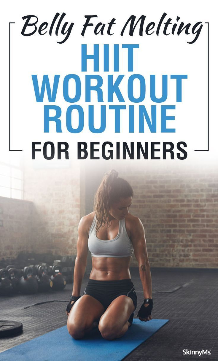 Here is a belly fat melting HIIT workout routine for beginners that will truly deliver on weight los...