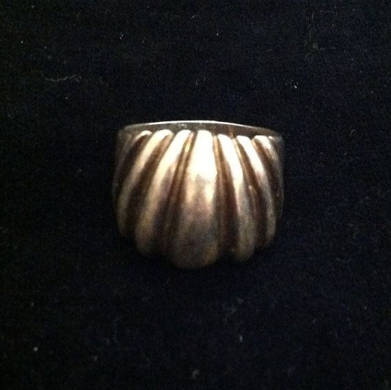 Vinatge & Bold .925 Sterling Silver Shell by WiseWomanEmporium