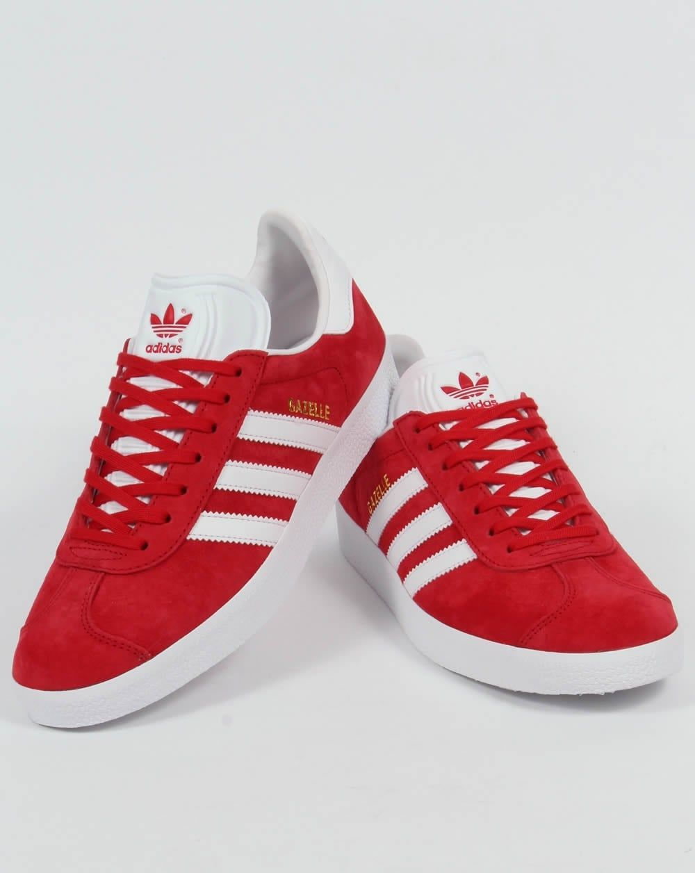adidas gazelle trainers power red white p6263 51906_image