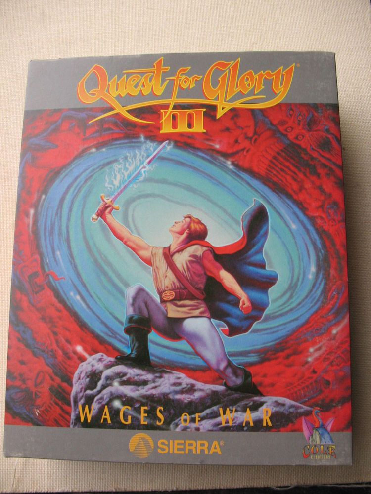 Quest for Glory III Wages of War PC 5.25 Floppy Drive Big