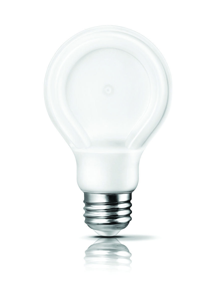 2. LED Everything... As an alternative to incandescent light bulbs Philips has introduced its SlimStyle A19 line of LED bulbs, which, at 10.5 watts, can replace conventional 60-watt bulbs. As their name suggests, these bulbs feature a slim (or flat) design ideal for pendants, table fixtures and sconces.