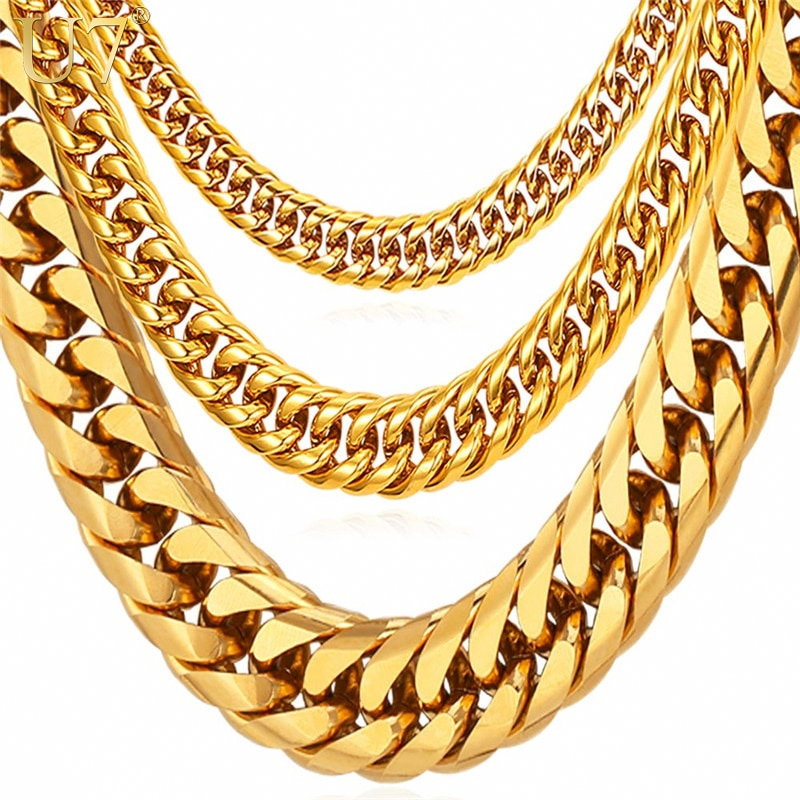 Goldjewelry Goldchainsmen Goldchains Fakegoldchains In 2020 Gold Chains For Men Cuban Link Chain Necklaces Chains For Men