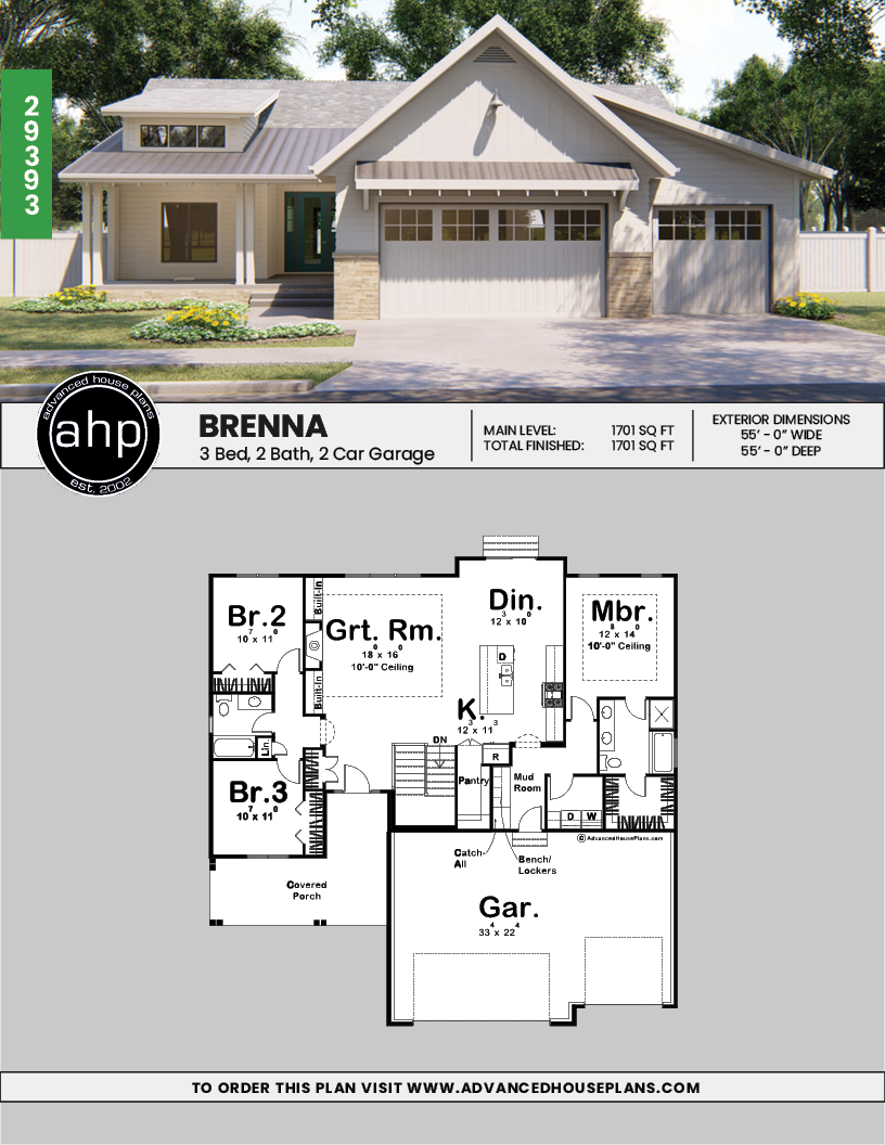 Farmhouse Floor Cottages Brenna 1 Story Cottage Modern Farmhouse House Plan Farmhousefloor Cotta Modern Farmhouse Plans Farmhouse Plans Farmhouse House