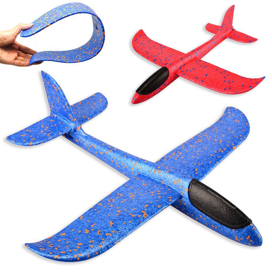 Throwing Hand Launch Glider Model Flying Plane Foam Aeroplane Kids Funny Toy New