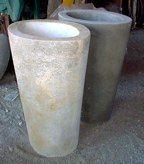 Past work. Concrete planter