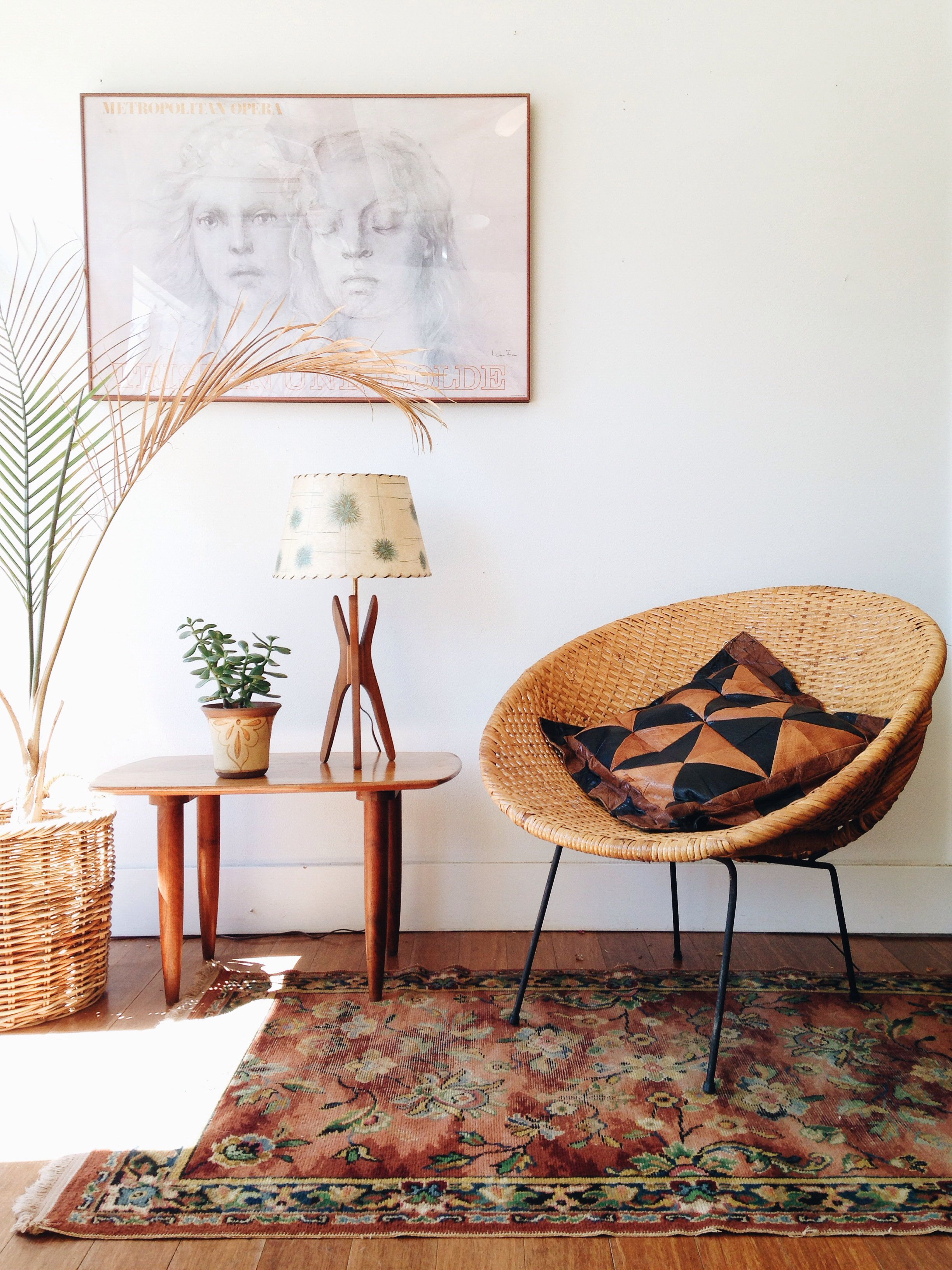 Mid-Century-Modern-Wicker- | Pinterest | Interiors, Living rooms and ...