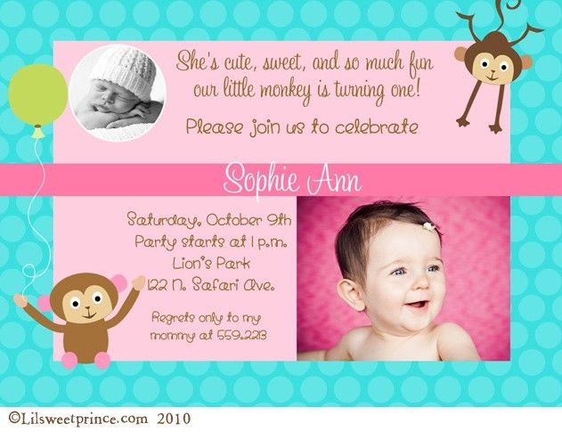 Eeeee adorable birthday parties pinterest birthdays and monkey first birthday invitations filmwisefo Image collections