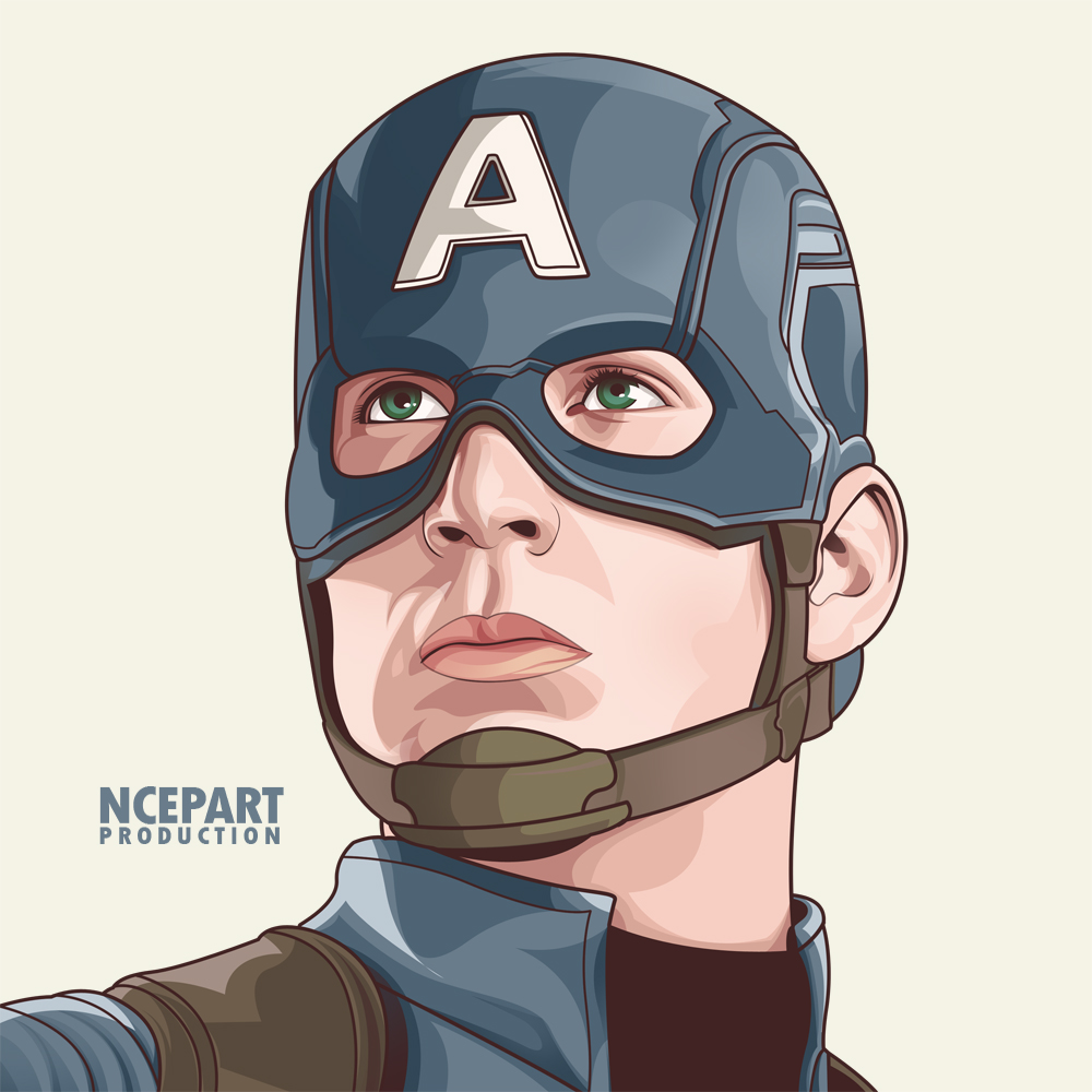 Captain America On Vector By Ncepart28 On Deviantart Captain America Art Captain America Drawing Marvel Cartoons