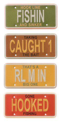 Karen Foster License Plate Embellishments - 4PK/Fishing by KAREN FOSTER, http://www.amazon.com/dp/B001ELBZNA/ref=cm_sw_r_pi_dp_qXdFrb1K2GY0Q