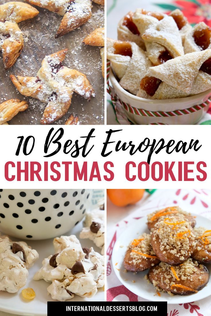 These 10 easy classic European Christmas cookie recipes are sure to become family favorites! These best homemade cookie recipes are perfect for kids, a cookie exchange, holiday party, office party or as a Christmas gift. You'll love these easy baking recipes! What's better than Danish cookies, traditional Swedish cookies, Finnish cookies, authentic German Christmas cookies, easy French cookies, Greek honey cookies & more!