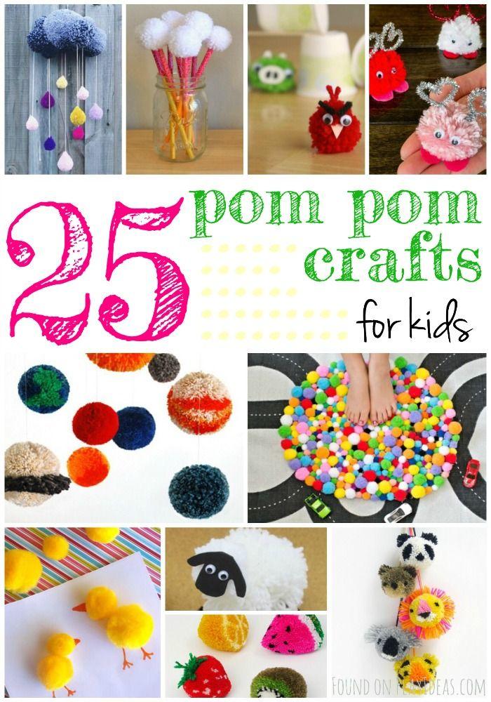 25 Delightful Pom Pom Crafts For Kids Pom Pom Crafts Toddler Crafts Crafts