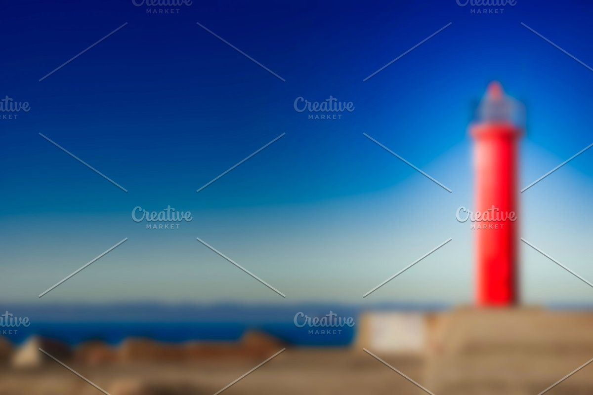 Photo of Red lighthouse – blurred image #Sponsored , #Paid, #soft#lens#Red#lighthouse