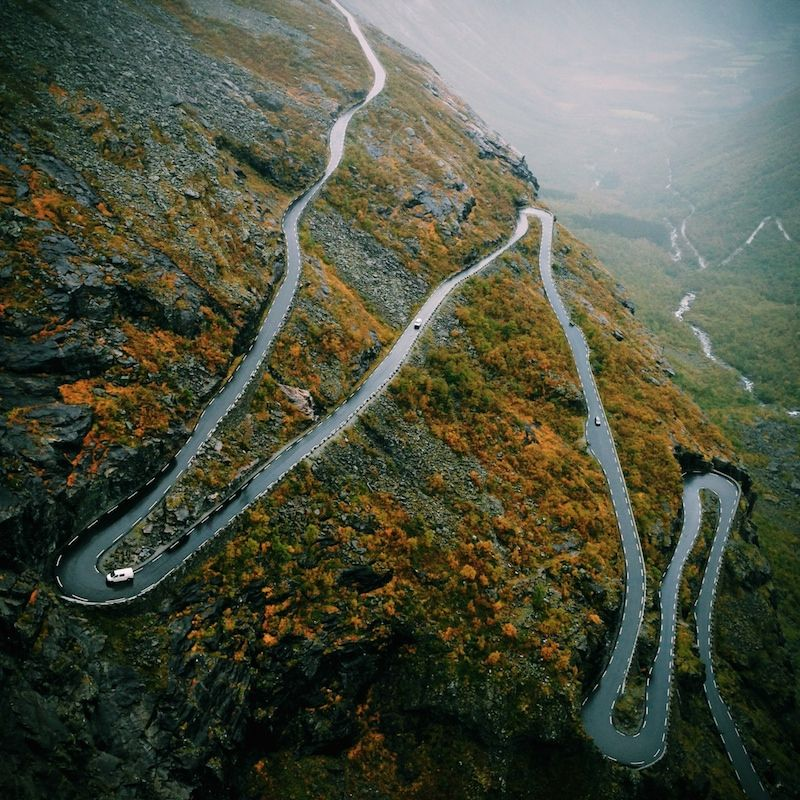 Photography by Mark Weinberg. I love the winding road here!