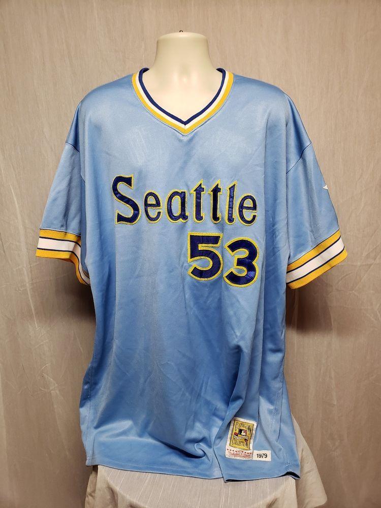 super popular 9703b ea621 Mitchell & Ness Seattle Mariners Willie Horton #53 Adult ...