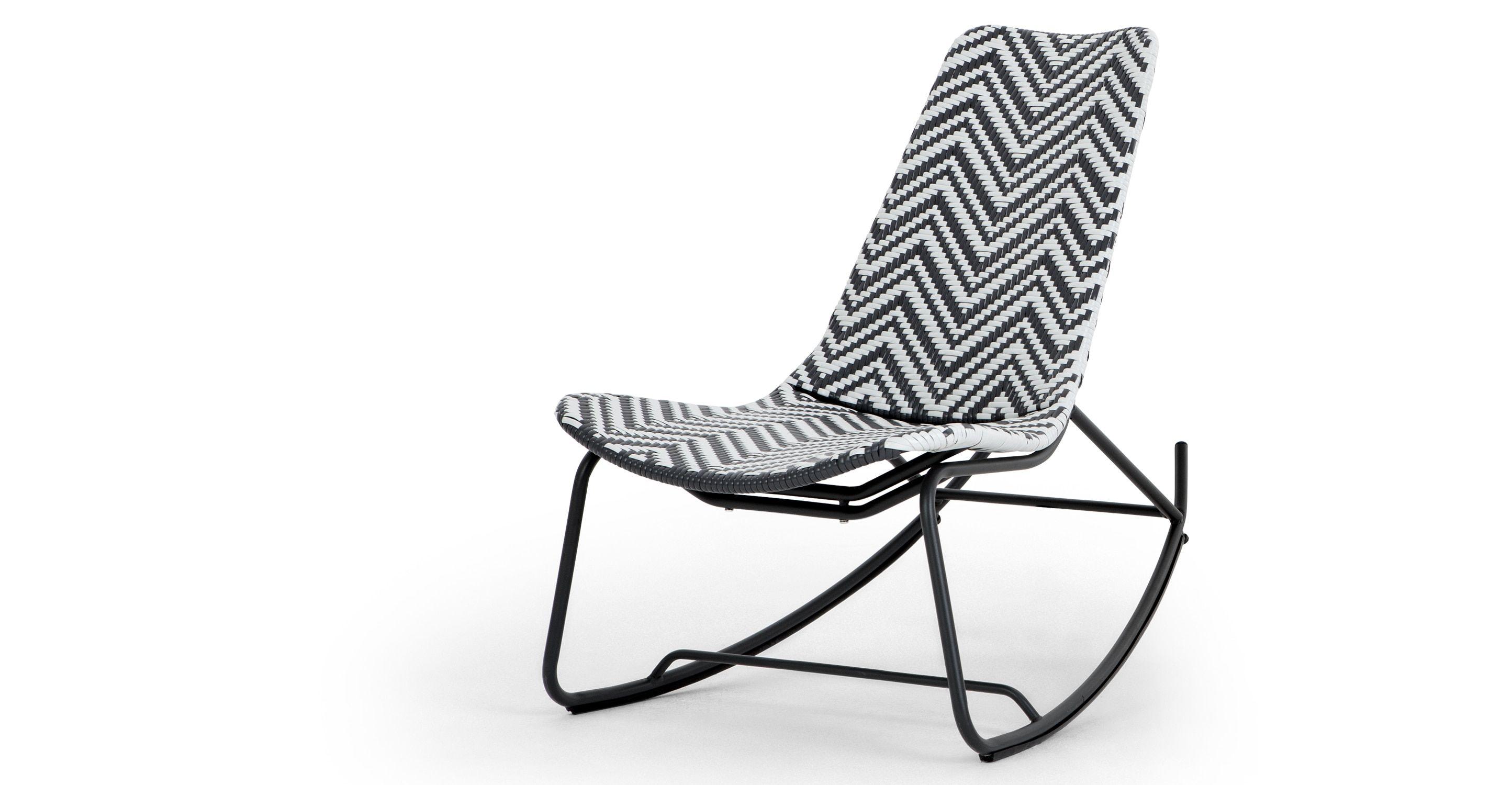 stylish --> Gartenstühle - Maui Schaukelstuhl, Schwarzweiß ...