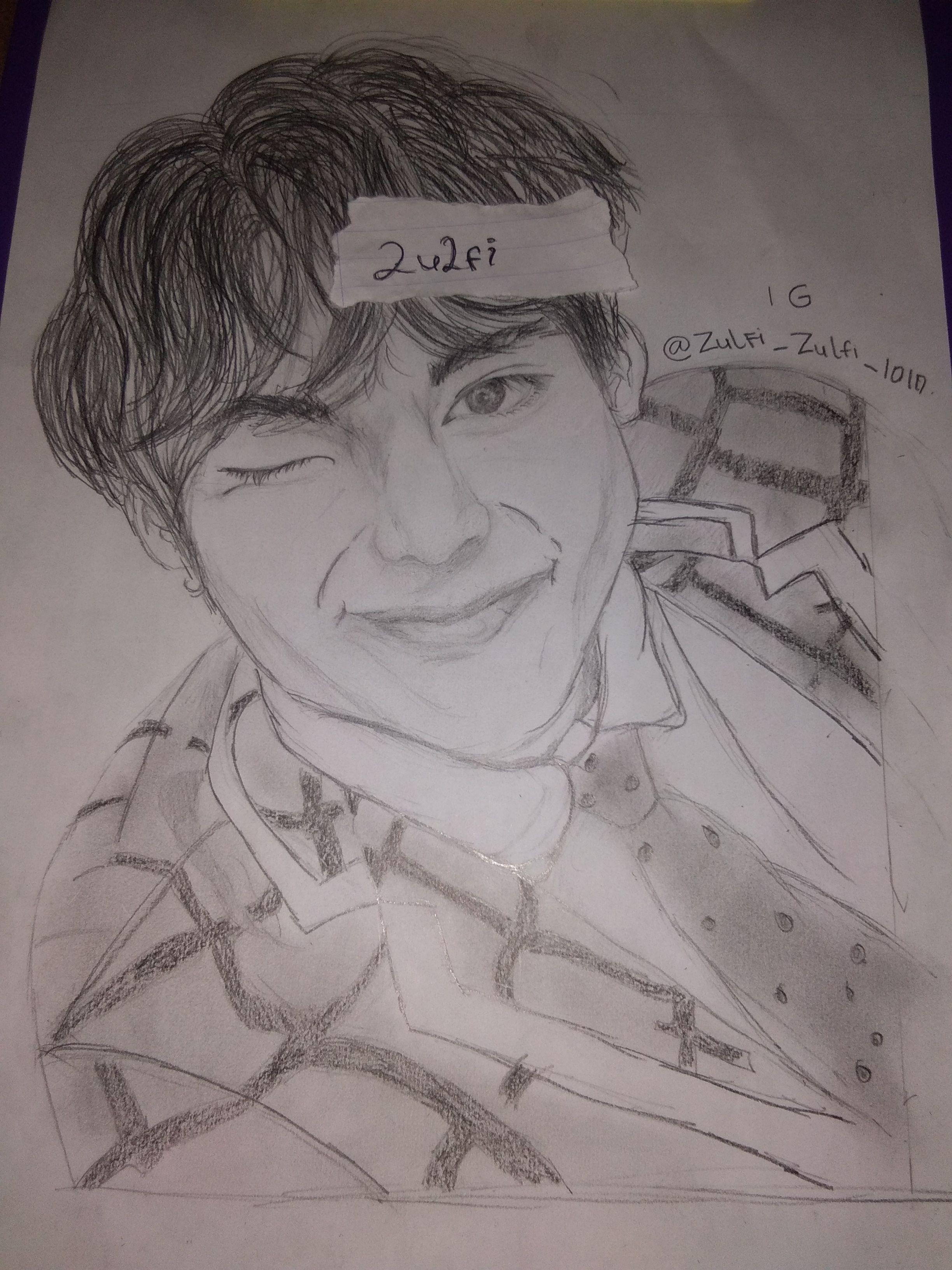 Kim Taehyung Belajar menggambar, Gambar, Lukisan