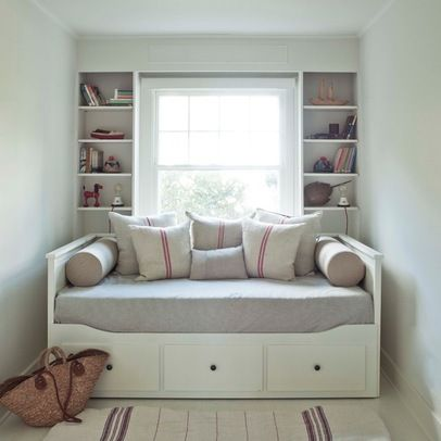 ikea hemnes day bed the bolster pillows and structured bedding give this nondescript - Daybed Couch