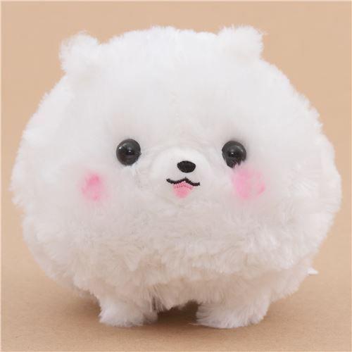 Cute Fluffy White Dog Pometan Plush Toy Japan Cute Stuffed