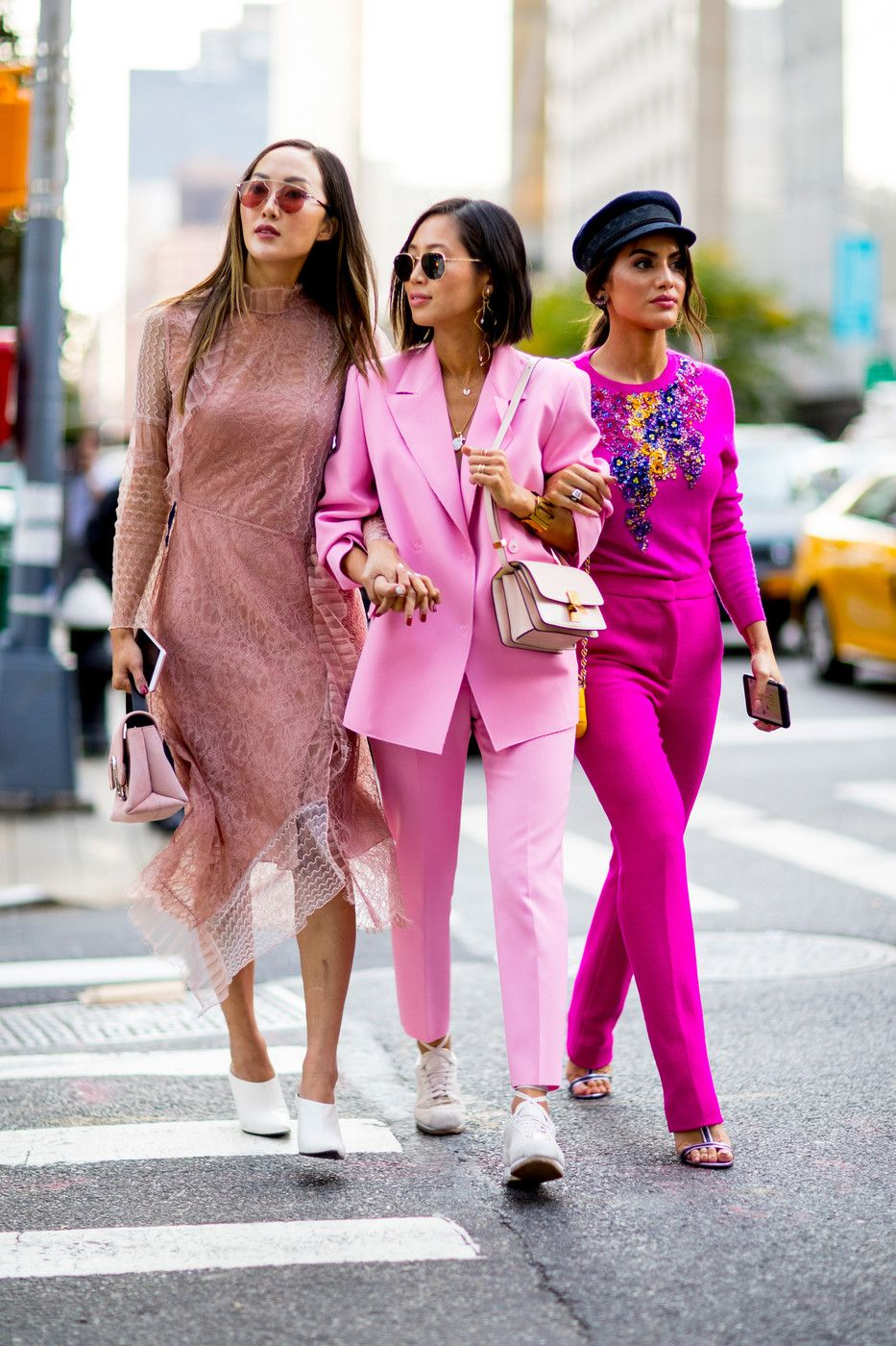 Pink Ladies | Cool street fashion, New york fashion week street ...