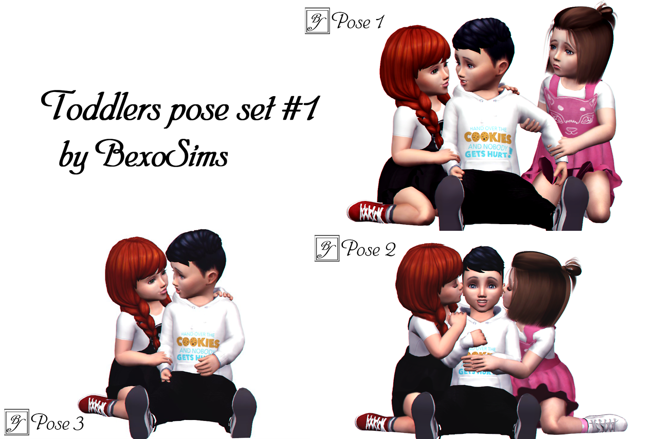 TS4) Toddler group poses by BexoSims DOWNLOAD You    | Sims