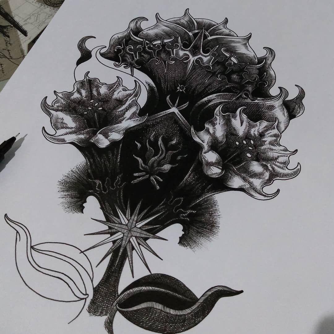 Lazy after one hour progress. #drawing #desenho #art #illustration #flash #tattoo #dark #black #noir #goth #gotic #amor #medieval #neotraditionalart #skullart #skull