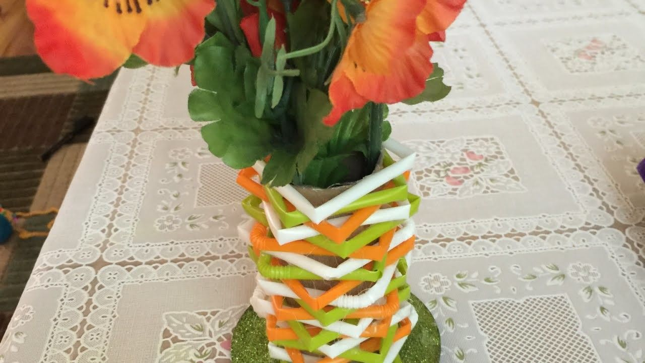 How to make a beautiful flower vase from straws diy home tutorial how to make a beautiful flower vase from straws diy home tutorial guidecentral izmirmasajfo