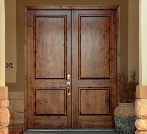Craftsman Double Front Door krosswood knotty alder 6-lite 1 panel craftsman w/clear beveled